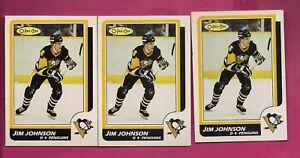 3-X-1986-87-OPC-231-PENGUINS-JIM-JOHNSON-ROOKIE-CARD-INV-A5152