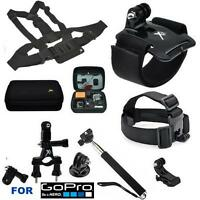 Gopro Hero4 Silver & Black All U Need Accessory Kit Hard Shell Case Chest Mount