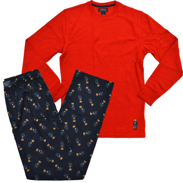 74151aa64264 Polo Ralph Lauren Blue Red Mens Size Medium M Sleepwear Pajama Set ...