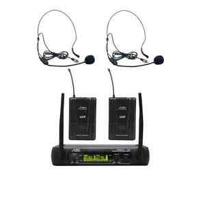 Audio2000'S AWM6074UH UHF, DUAL-CHANNEL WIRELESS HEADSET MICROPHONE SYSTEM -MR