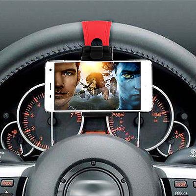 Universal Car Steering Wheel Smart Phone Mount Holder For iPhone Samsung LG MP4