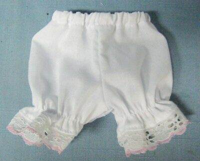 "WHITE COTTON PANTIES w// Yellow Lace-Made for 15/""  MY FRIEND MANDY DOLL"