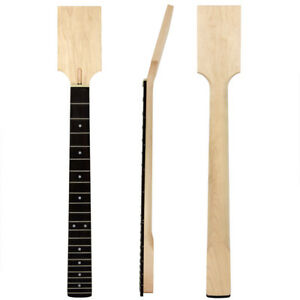 Paddle-Electric-Guitar-Neck-22-Frets-DIY-Parts-Unfinished-Canada-Maple