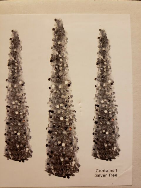 Collapsible Christmas Tree.5 Ft Silver Tinsel Christmas Tree Pop Up Thin Collapsible Seasons By Nicole
