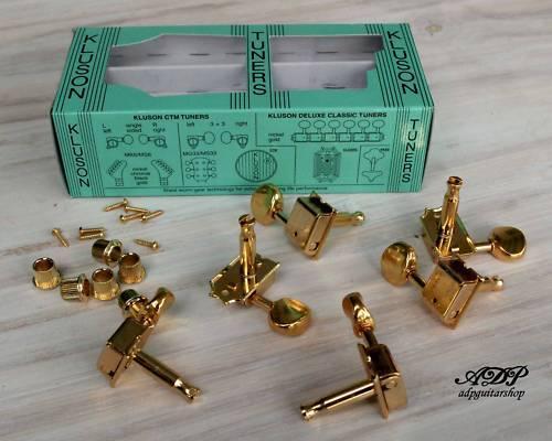 grande sconto Mecaniques Vintage Kluson Tele Strat 6 Pegs inLine oro oro oro MC6LG  vanno a ruba