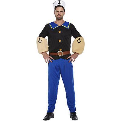 Disfraz Marino Para Hombre Capitán Popeye Estilo Pirata Talla Única U37 098