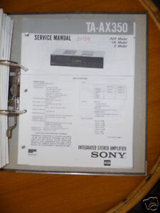 Original Hell Service-manual Sony Ta-ax350 Amplifier Spezieller Sommer Sale