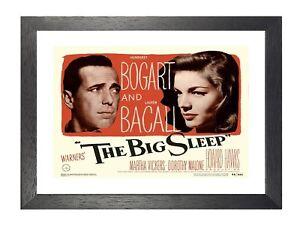 The big sleep Humphrey Bogart cult movie poster print #2