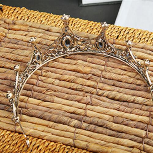 1pc Crown Crystal Bridal Tiara Hair Hoop Bride Headwear Accessories for Wedding