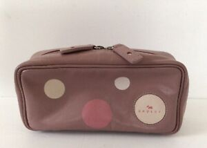 Genuine-Radley-Pink-Leather-Pouch-Purse-Bag-for-Make-Up-Glasses-Pencils-Etc