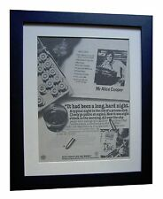 ALICE COOPER+Lace & Whiskey+POSTER+AD+FRAMED+RARE ORIGINAL 1977+FAST GLOBAL SHIP