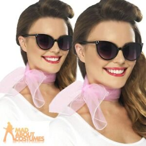 cc8243786e Details about 50s Pink Lady Neck Scarf Ladies Grease Fancy Dress Costume  Accessory Hen Party