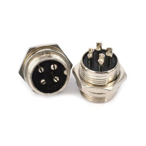 5pcs Aviation Plug 4-Pin 16mm GX16-4 Metal Male Female Panel CoRGS