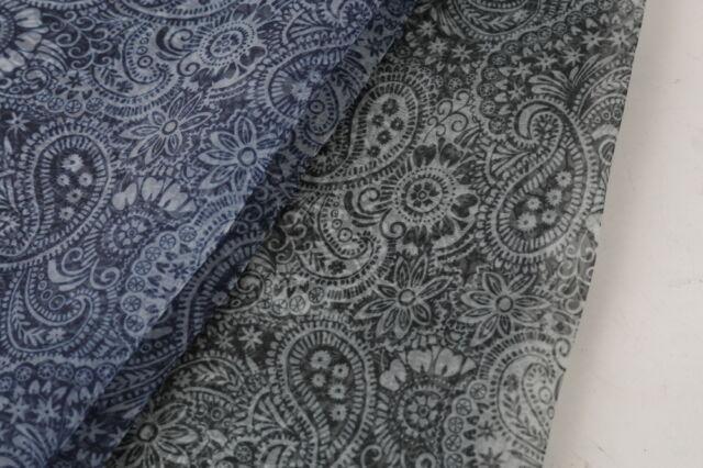 Organza fabric Flower Print Sheer Dress Decor Craft Costume Wedding DIY poly