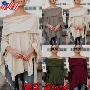 Off-The-Shoulder-Asymmetrical-Fashion-Women-Tops-Office-Shirt-Blouse-Casual-Tank