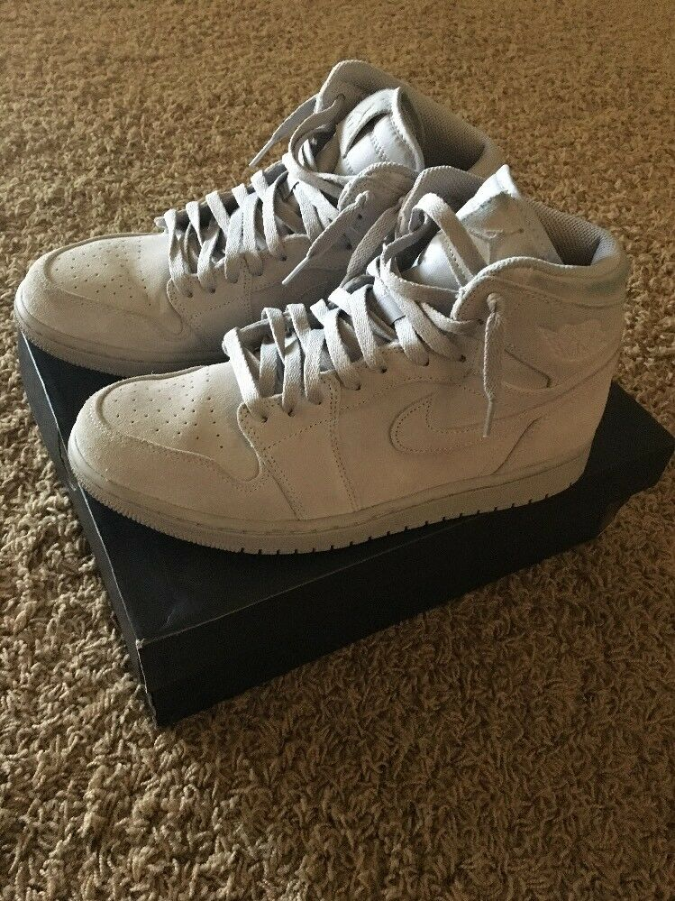 Men's Air Jordan 1 Retro High Tops Wolf Grey Suede Shoes Sz 9.5 Reg Price reduction Cheap and beautiful fashion