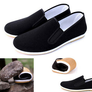 Black Cotton Shoes Bruce Lee Vintage Top Quality Chinese Kung Fu shoes Footwear