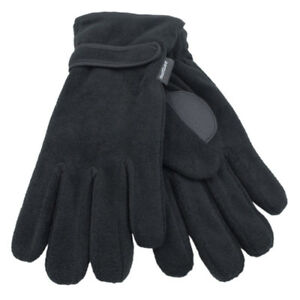 Mens Thinsulate Lined Polar Fleece Thermal Winter Gloves M//L L//XL