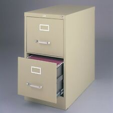 Hirsh 22 In Deep Metal 2 Drawer Letter Width Vertical File Cabinet Puttybeige
