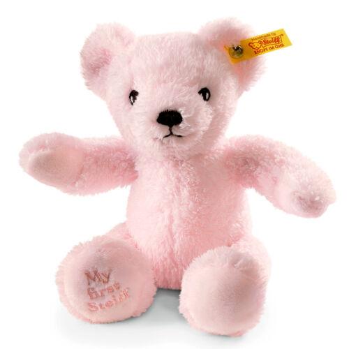 Steiff /'My First Steiff/' washable pink baby teddy bear in gift box EAN 664717