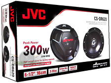 "JVC CS-DR620 6.5"" 2 Way Car Audio Coaxial Stereo Car Speakers New JVC CSDR620"