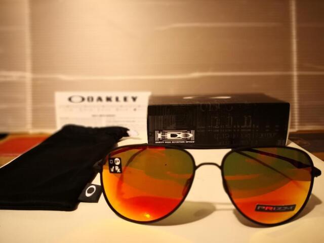 b4f56d83dc8 NEW Oakley Elmont L AVIATOR Sunglasses 60mm Satin Black   PRIZM Ruby  OO4119-1360