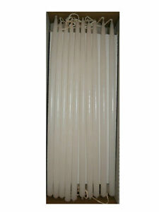 10 Thin Taper Candles 300mm Tall 9mm Wide White Ebay