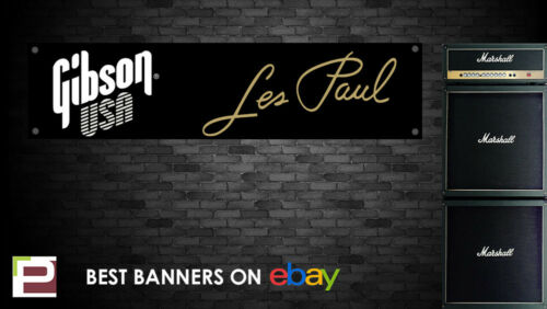 Garage Gibson Les Paul Banner Studio Bedroom, for Rehearsal Room