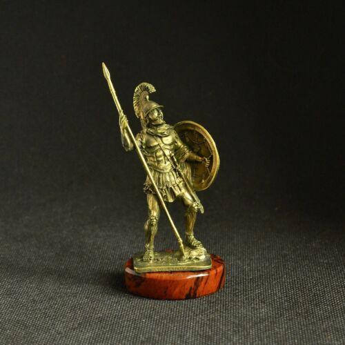 Art Deco Bronze Ancient Greek Spartan Macedonian Spearman Statuette Figurine