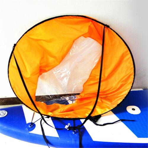 46 Zoll Orange Instant Popup Sitzen Sie auf der Oberseite Kajak Segel Wind