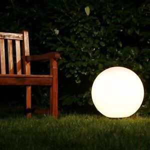 boule lumineuse lampe d 39 ext rieur luminaire jardin globe clairant 50cm 36790 ebay. Black Bedroom Furniture Sets. Home Design Ideas