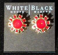 White House Black Market Flame Flower Post Earring