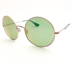 9342eef6ab4 Ray Ban 3592 9035 C7 Shiny Copper Green Flash Mirr 55 New Sunglasses ...