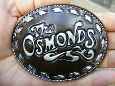 Vtg THE OSMONDS Belt Buckle ROCK BAND Album ART Donny & Marie Music RARE MINT
