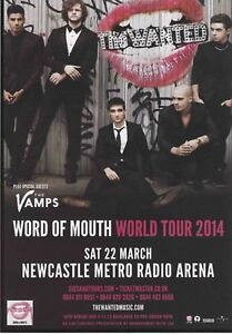 THE WANTED  Newcastle 2014 CONCERT FLYER Mint - <span itemprop=availableAtOrFrom>England, United Kingdom</span> - THE WANTED  Newcastle 2014 CONCERT FLYER Mint - England, United Kingdom