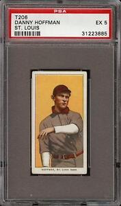 Rare 1909-11 T206 Danny Hoffman Piedmont 350 St. Louis PSA 5 EX