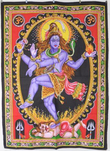 Indisch Tanzende Shiva Natraj Pailletten Besetzt Wandbehang