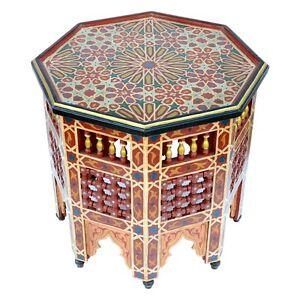 marokkanischer tisch orientalischer beistelltisch bistrotisch orient xl2 d60cm ebay. Black Bedroom Furniture Sets. Home Design Ideas