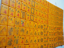 152 Bakelite Chinese Mah Jong Jongg Royal Coronet~Alligators Dragons Snakes Tile