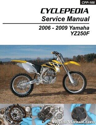 Yamaha YZ250F Cyclepedia Printed Motorcycle Service Manual 2006 – 2009    eBay   2007 Yamaha Yz250f Engine Diagram      eBay