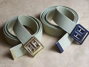 Two-Army-Military-USMC-Marine-Khaki-Belt-BDU-ACU-Uniform-Sport-Golf-w-P38