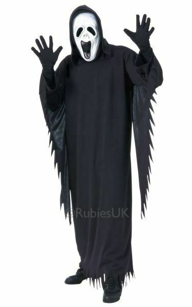 ! Oferta! Horror Halloween Para Hombre Adulto Aullidos Fantasma Fiesta Vestido Elegante Traje De Disfraz