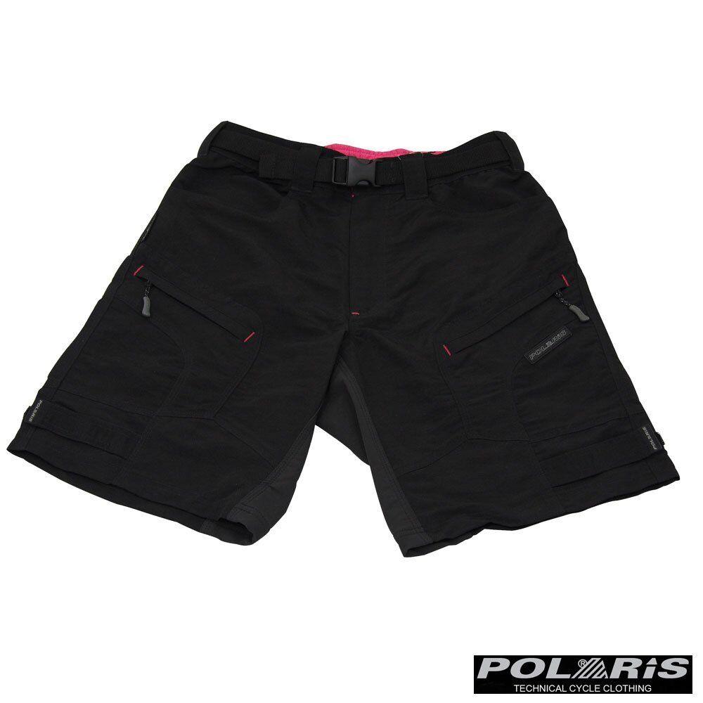 Polaris Bikewear Women's Angel MTB Shorts Padded Detachable Liner Baggy Shorts