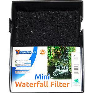 superfish mini waterfall filter - wasserfall teichfilter set
