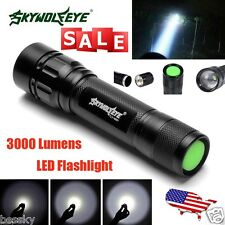 Focus 3000 Lumens 3 Modes Zoom CREE XML T6 LED 18650 Flashlight MINI Torch Lamp