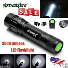 Focus 3000 Lumens 3 Modes Zoom CREE XML T6 LED 18650 Flashlight MINI Torch Lamp