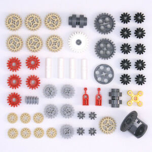 Lego-Technic-Gears-Cogs-Wheels-Worms-Clutch-Pulley-Differential-53-Parts-NEW