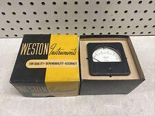 New Vintage Weston Model 1362 Range 0 10 Volts Round Panel Meter Nos Nib Cool