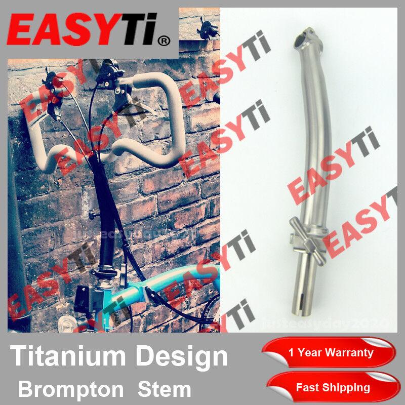 EasyTi Titanium Ti P Type Quill Stem 25.4mm voor Brompton Folding Bike-zwart