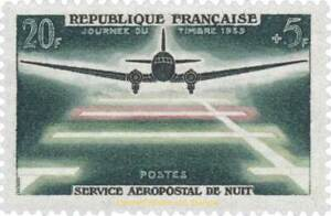 EBS-France-1959-Night-Airmail-Service-Aeropostal-de-Nuit-YT-1196-MNH